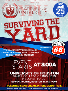 """Houston Area Urban League Young Professionals hosts """"Young Professionals University: Surviving the Yard"""""""