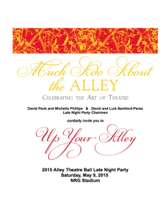 """2015 Alley Theatre Ball Late Night Party """"Up Your Alley"""""""