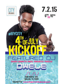 The City Influencer Presents #MyCity 4th of July Kickoff Party Featuring Dwele