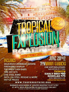 The 4th Annual Tropical Explosion Caribbean Boat Ride