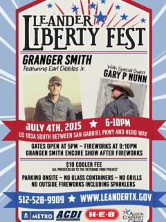 Leander Liberty Fest poster 2015