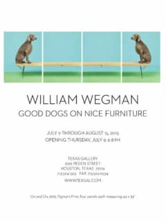 William Wegman: Good Dogs On Nice Furniture