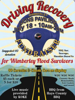Driving Recovery: A Rally and Concert for the Wimberley Community poster CROPPED July 2015