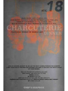 Prohibition Supperclub & Bar Cook's Soap Box - The Charcuterie Dinner
