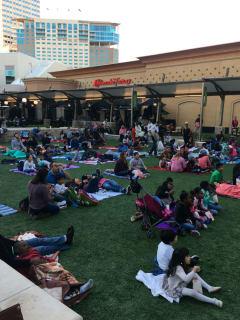 Family movie night at Memorial City Square
