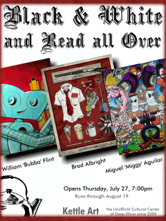 Kettle Art Gallery presents Black and White & Read All Over