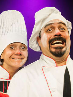Cara Mía Theatre presents Gog and Magog: Two Clowns Trapped in Hell