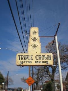 Austin_Photo: Places_Shopping_Triple Crown Tattoo_sign