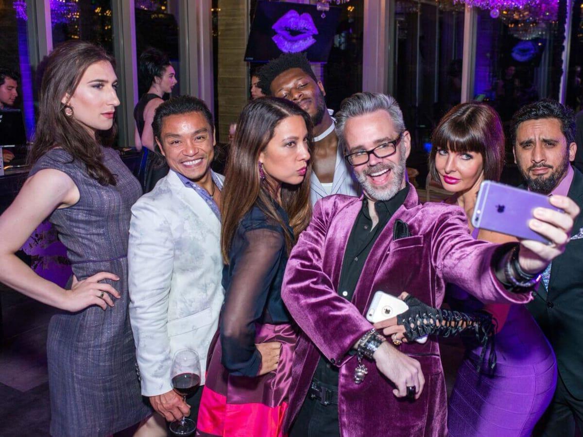 Purple party, Victoria Hellyer, Ngoan Henderson, Anika Jackson, Michael Pearce, Staci Henderson, Omar Mejia