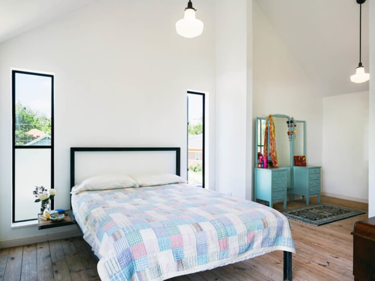 Austin home house Houzz DIY modern Texas farmhouse Garden St bedroom