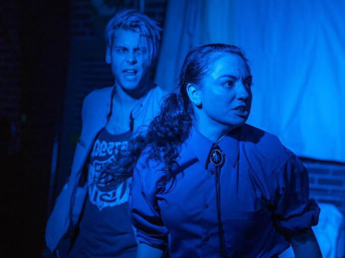 Dustin Simington and Lauren Mishoe in Trainspotting