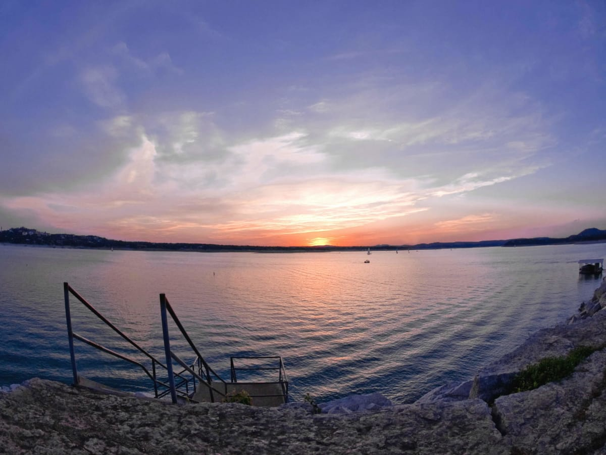 Windy Point Park Lake Travis sunset