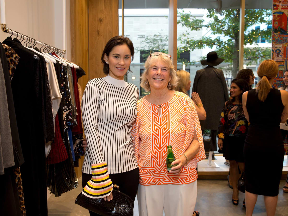 Alice and Olivia opening, 8/16,  Laura Arnold, Kathy Heinzerling