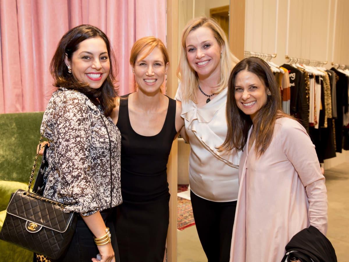 Alice and Olivia opening, 8/16,  Nicole Katz, Carolyn Dorros, Molly Voorhees, Karen Farber