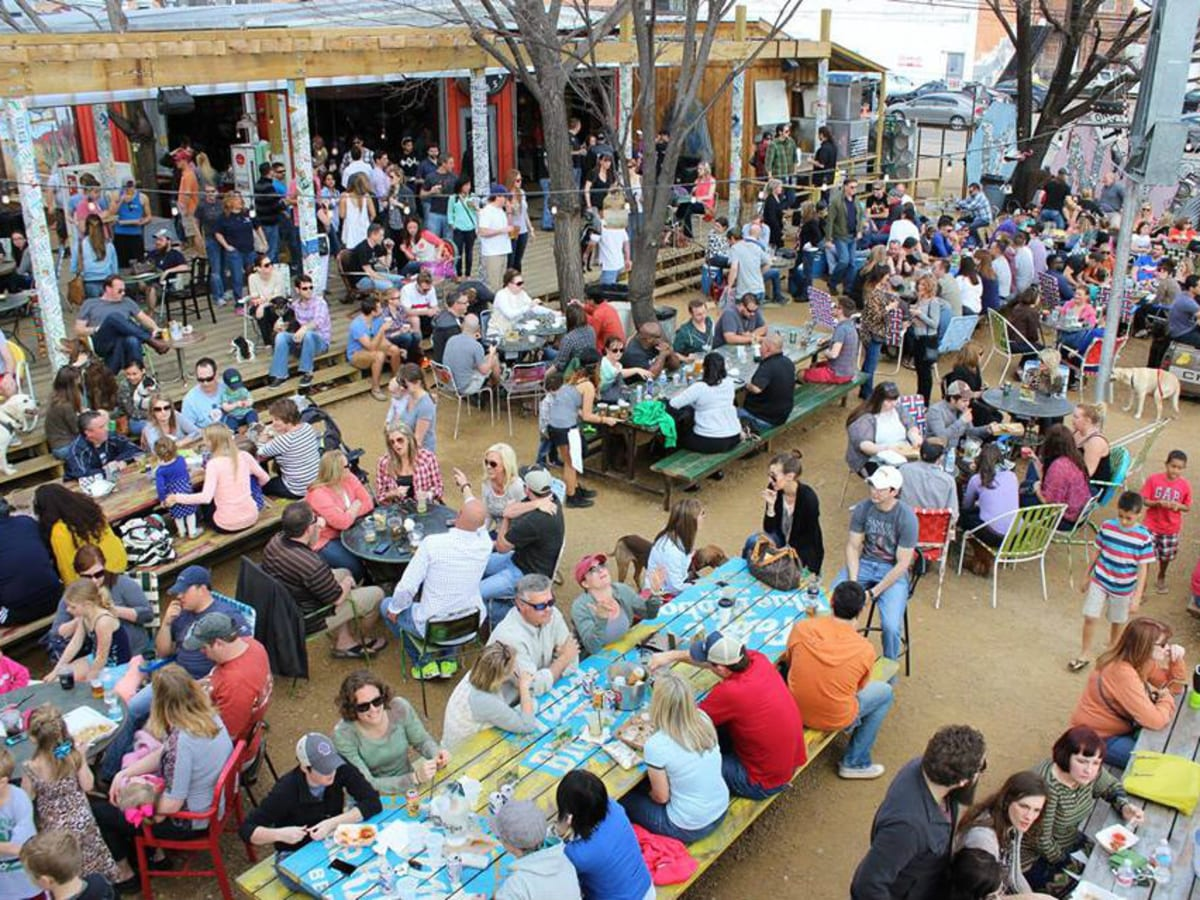 People at Truck Yard in Dallas