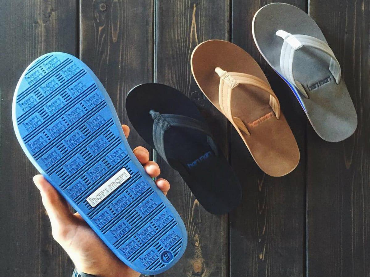 Hari Mari Fields flip-flops