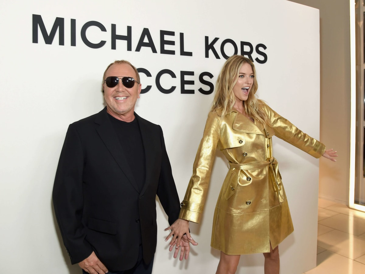 Michael Kors, Martha Hunt at watch launch party
