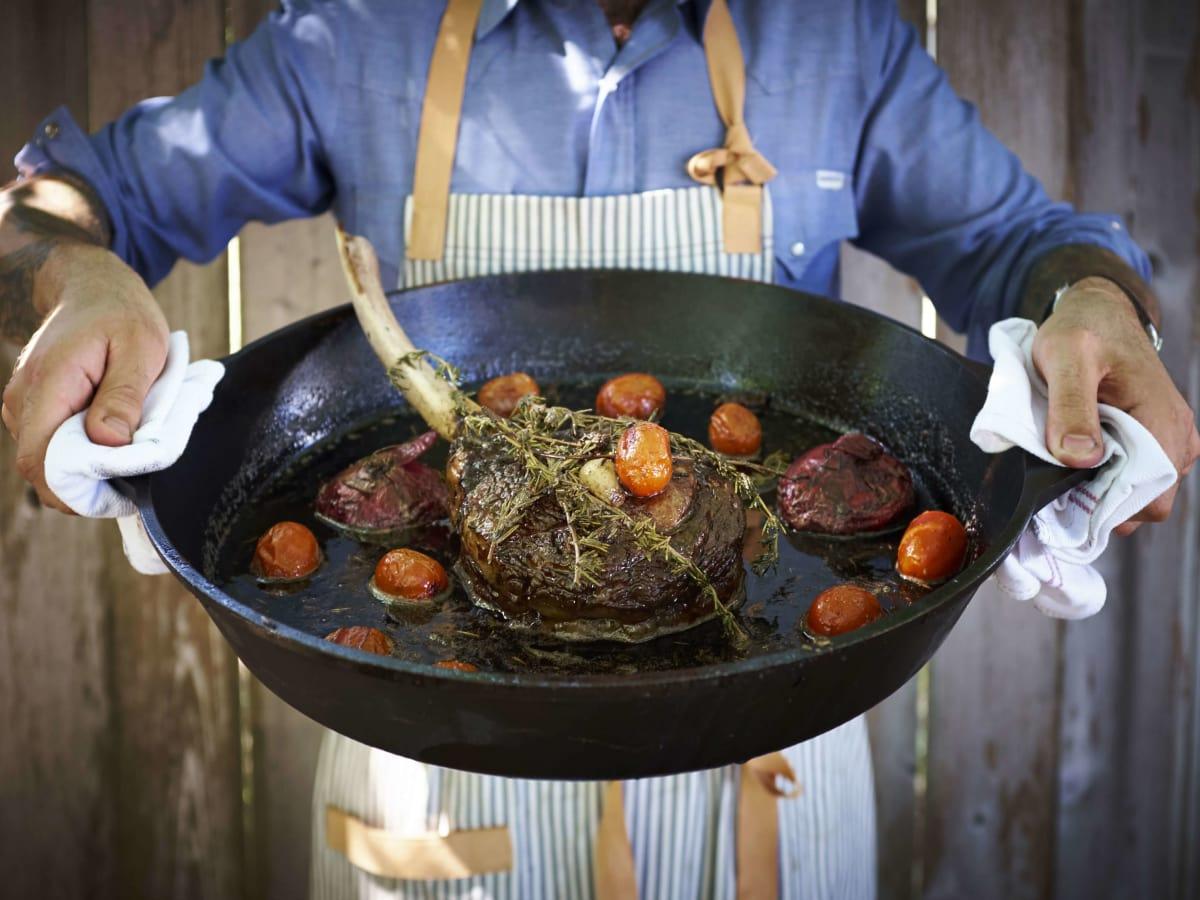 Hudson's on the Bend Austin resaurant new menu Tomahawk Steak