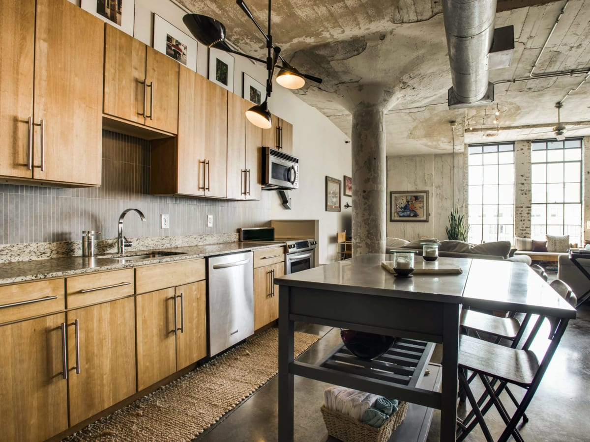 Kitchen at 1122 Jackson St. in Dallas