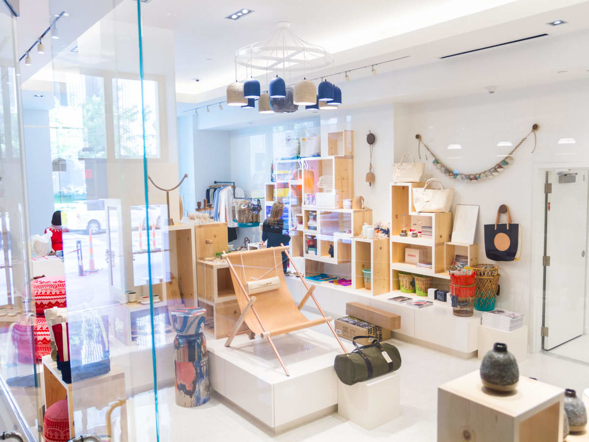 Interior of TenOverSix boutique in Dallas