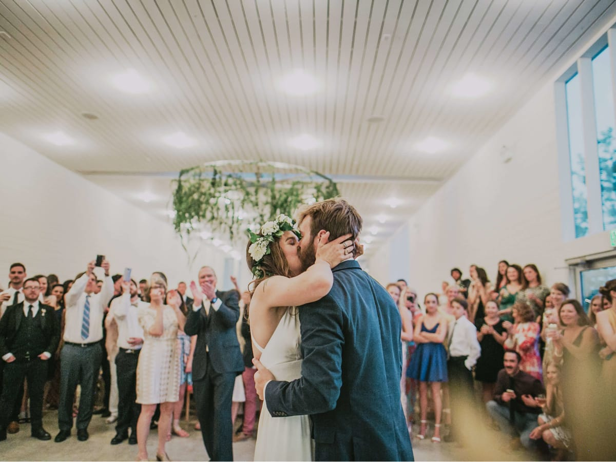 Hill Country wedding prospect house reception