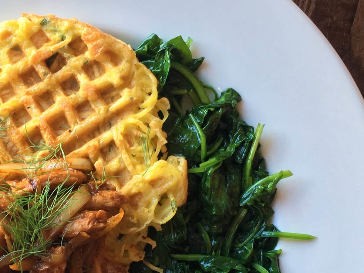 Citizen Eatery Austin parsnip waffle