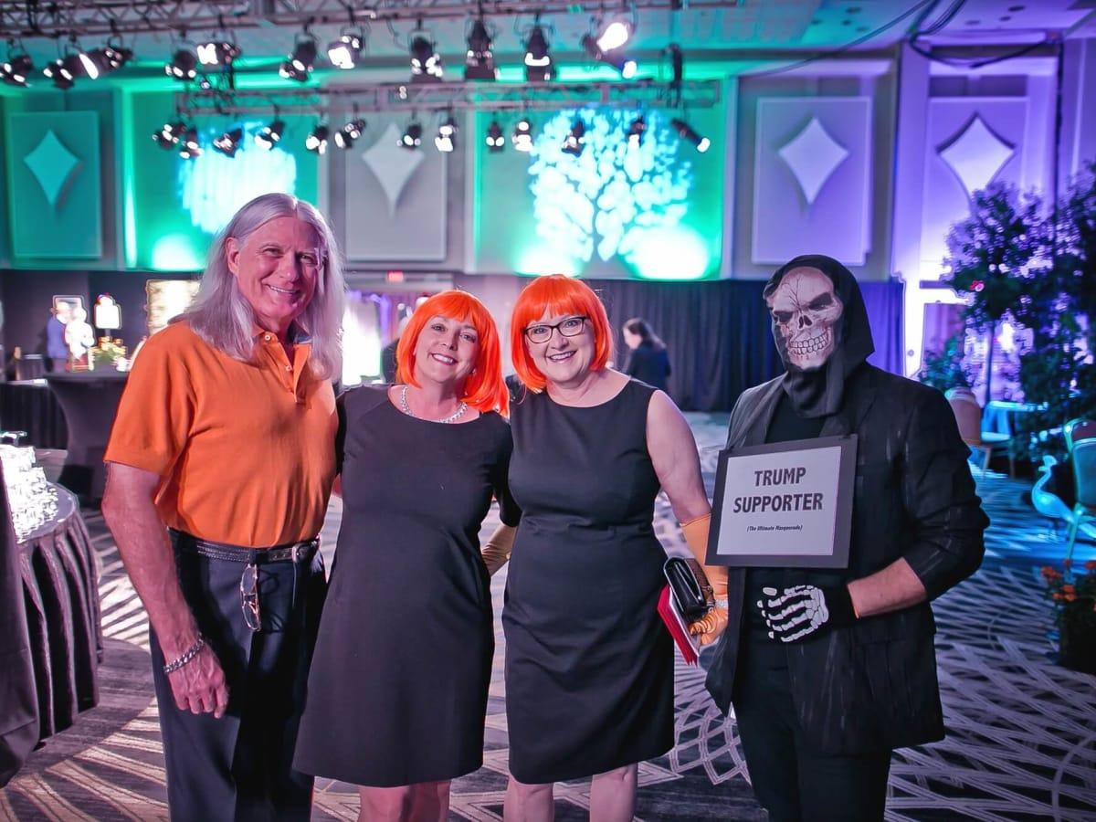 Michael Holland, Christine Holland, Sue Payne, Steve Wagner at Orange Show Gala