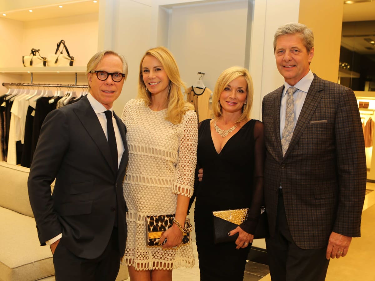 Tommy Hilfiger and Dee-Ocleppo-Hilfiger, from left, and Wezy and Bobby Dees at the CancerForward Key To The Cure Kick-off October 2014