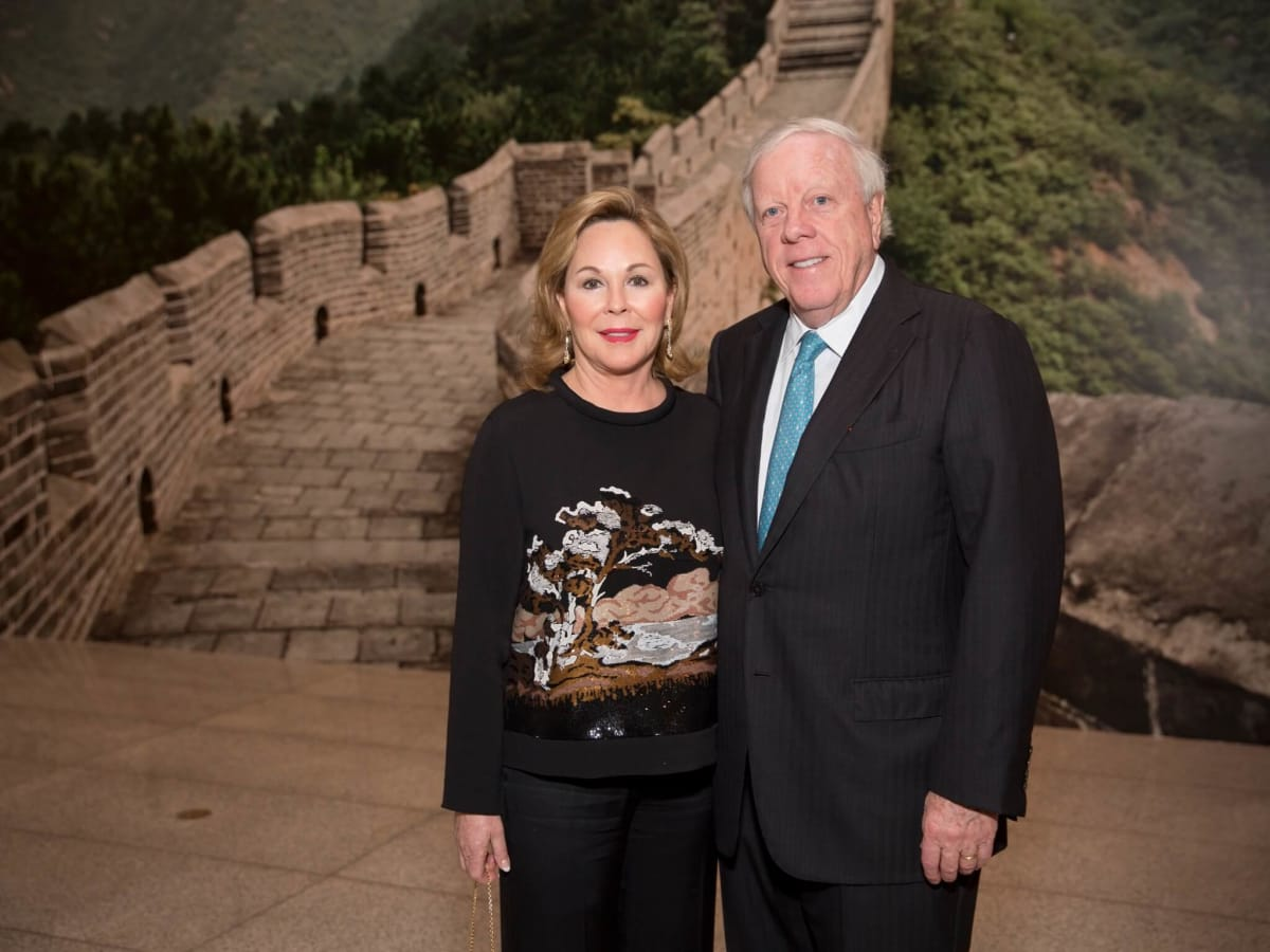 MFAH Emperors Treasures dinner, Nancy Kinder, Rich Kinder