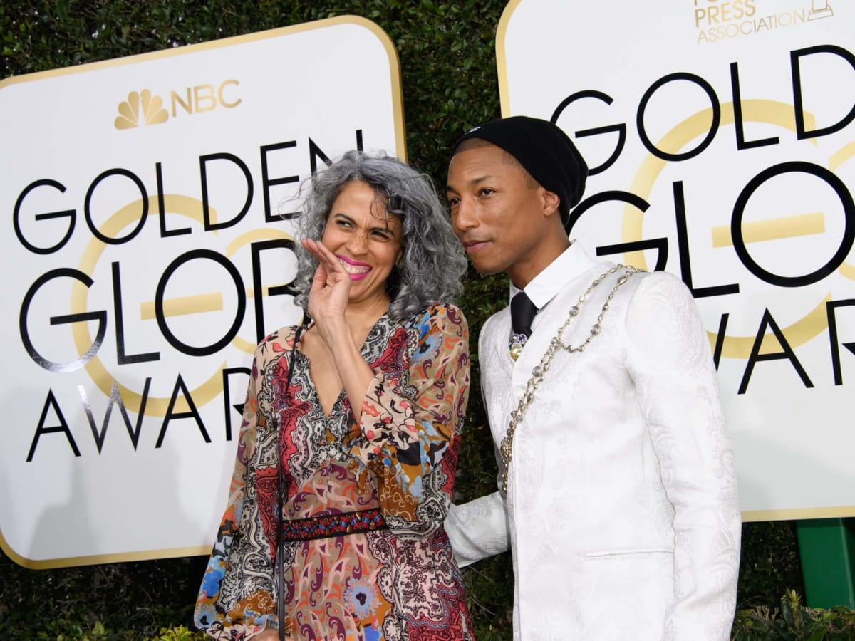 Pharrell Williams at Golden Globes 2017