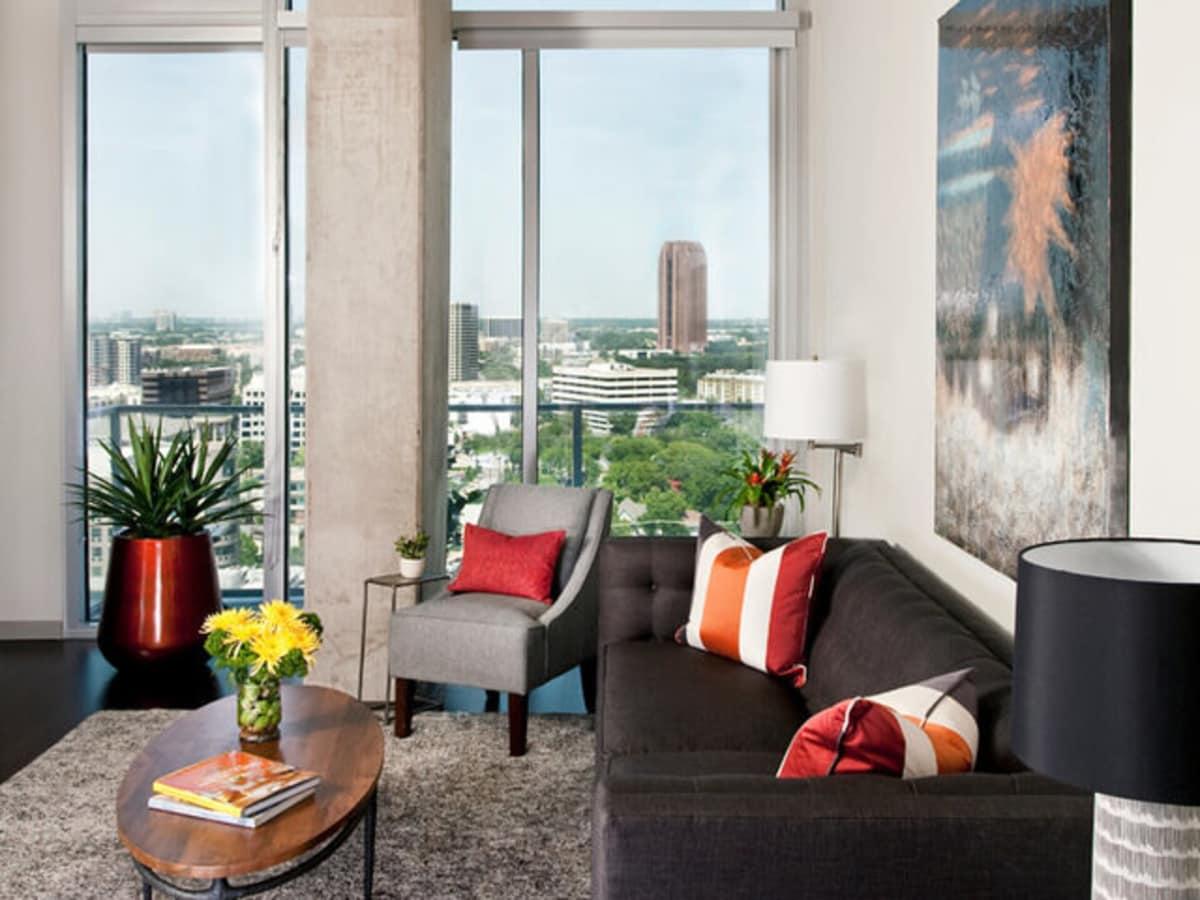 Dallas Uptown apartment Houzz transformed