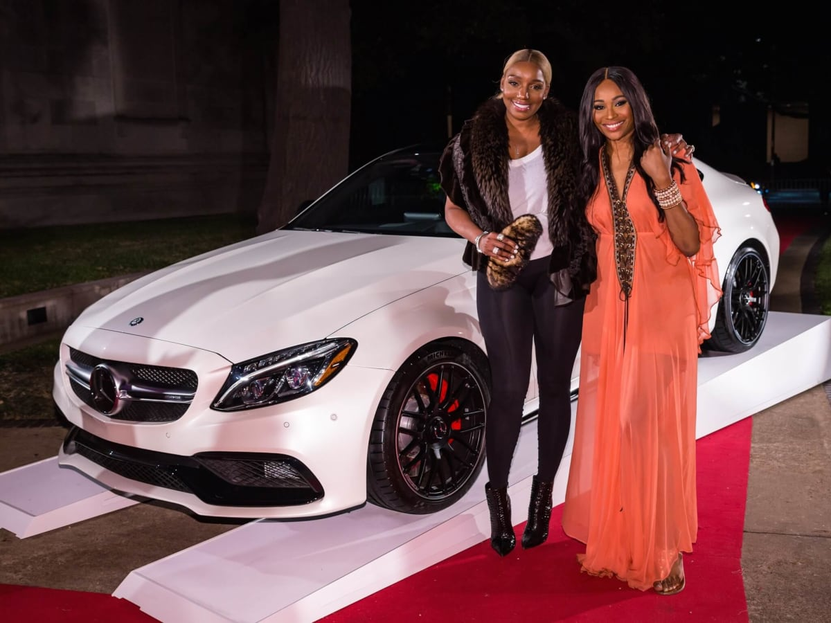 Nene Leakes and Cynthia Bailey at Rolling Stone party