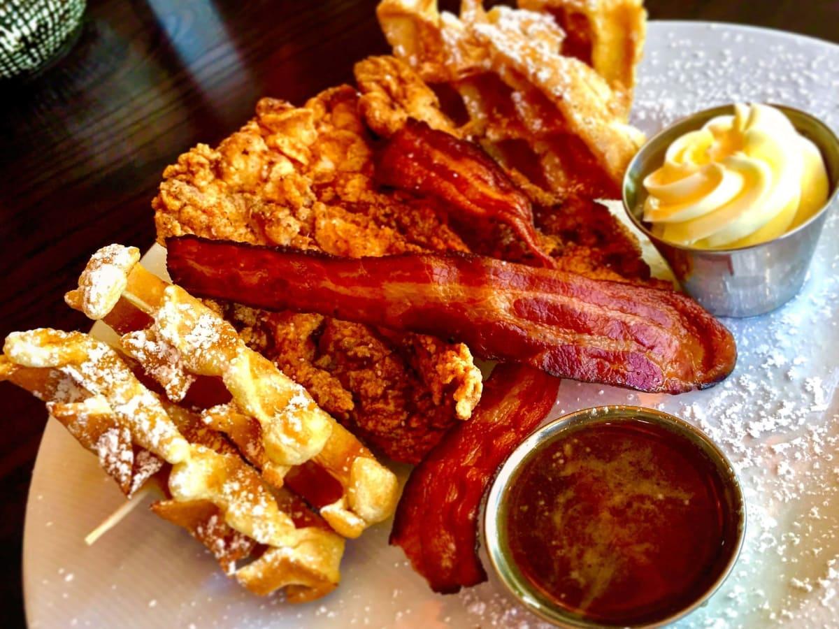 Gramma Minnie's Fried Chicken & Waffles from Jasper's