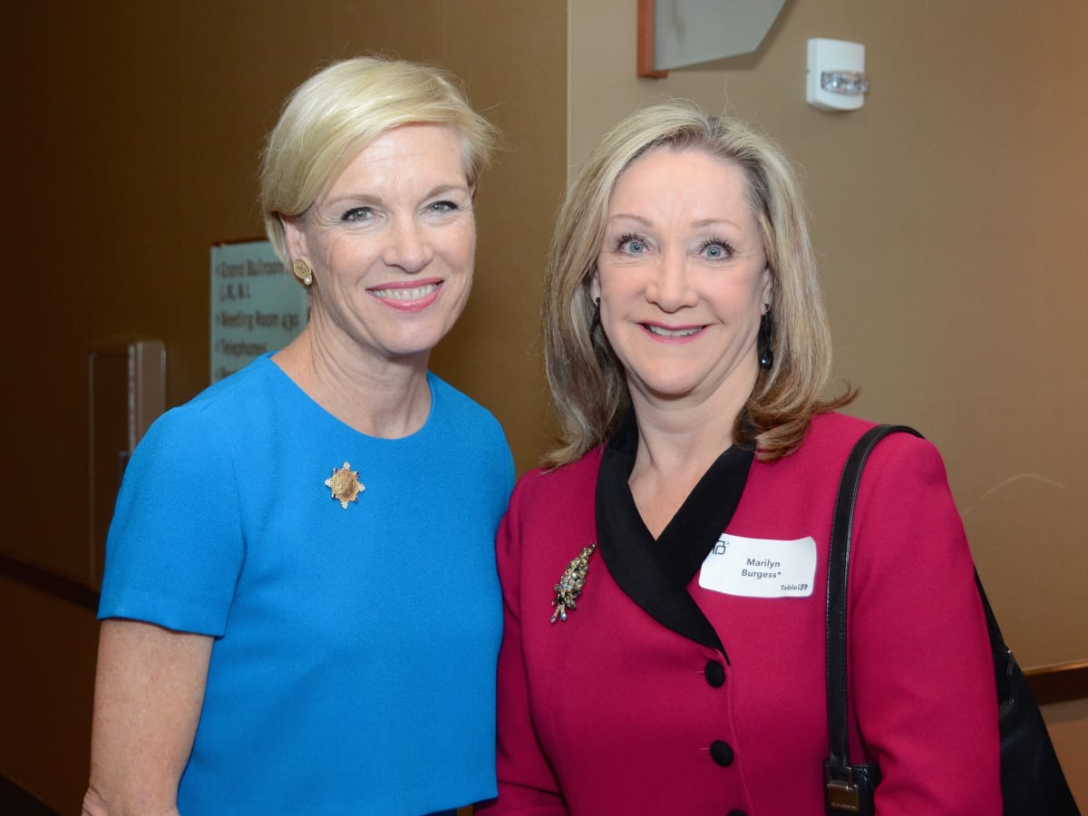 Cecile Richards, Marilyn Burgess at Planned Parenthood luncheon