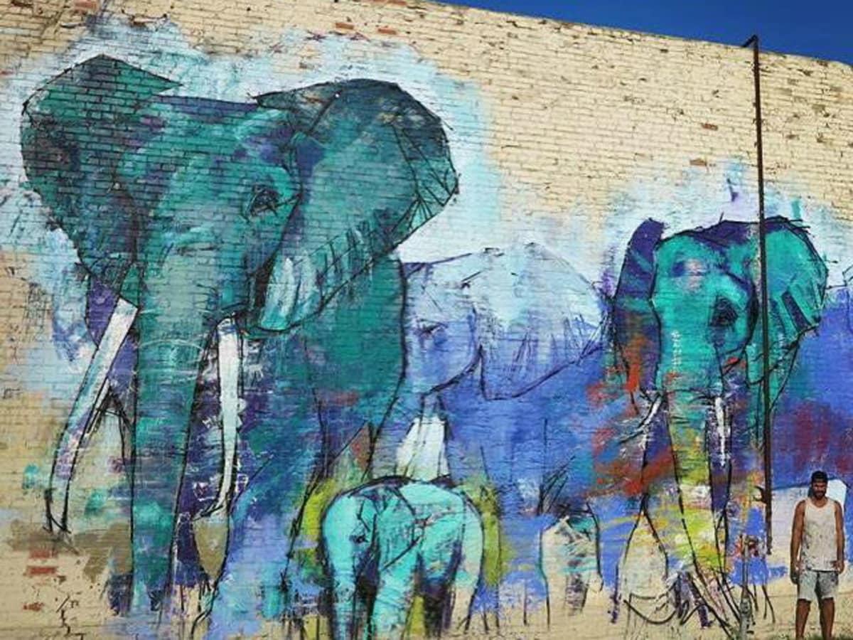 Deep Ellumphants mural