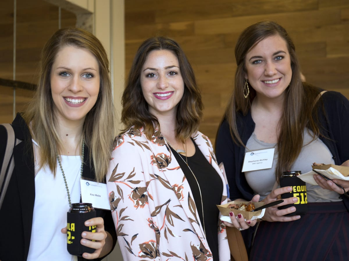 Houston, CHIME YP event at Headquarters, March 2017, Alex Webb, Leah Garner, Stephanie Atchley