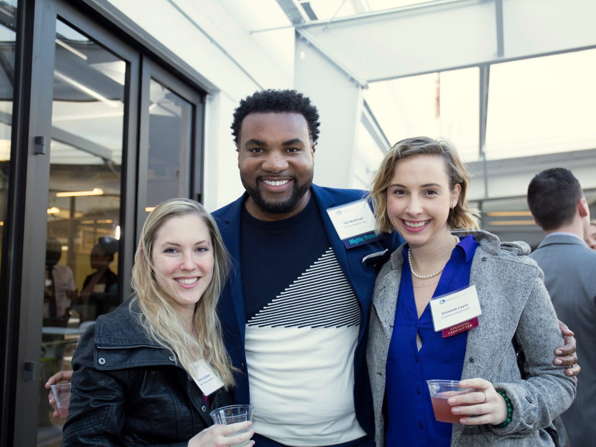 Houston, CHIME YP event at Headquarters, March 2017, Rachael Jacobson, Will Matthews, Elizabeth Layne