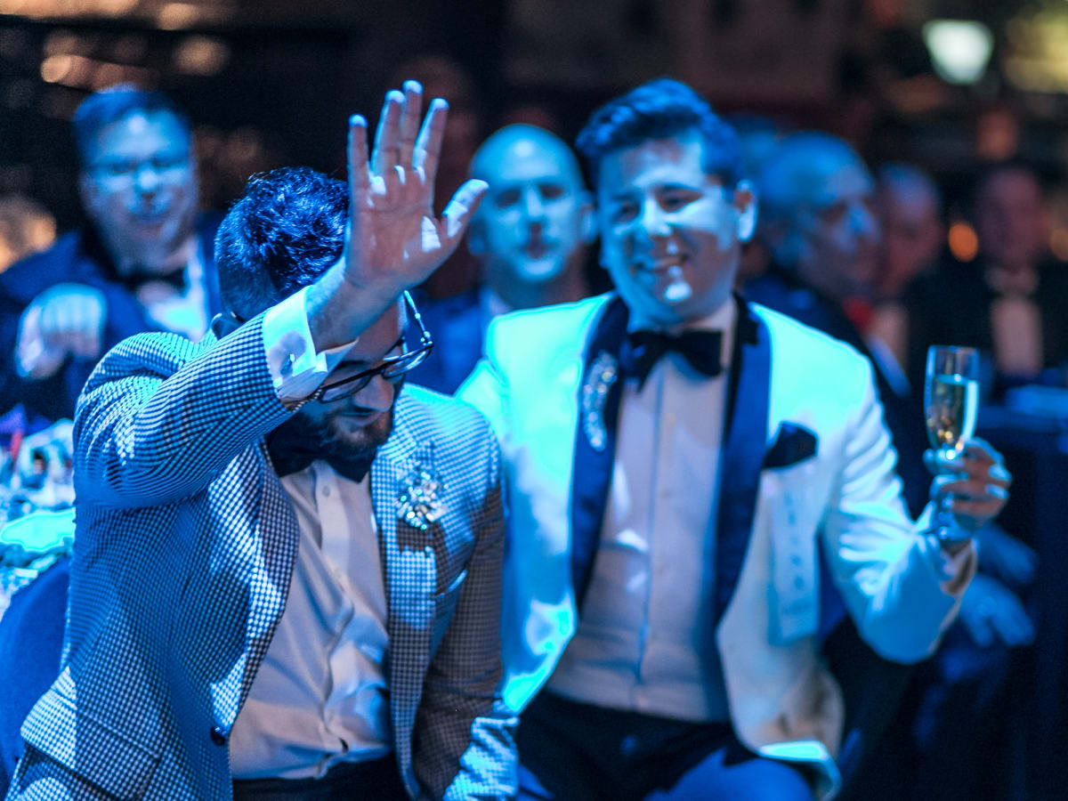 Super fan  Zac Wilmore reacts as Alex Newell sings Happy Birthday at Diana Awards