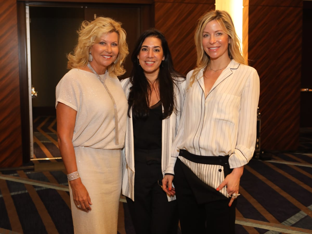 Susan Plank, Unidentified, Laura Greenberg at Best Dressed Luncheon 2017
