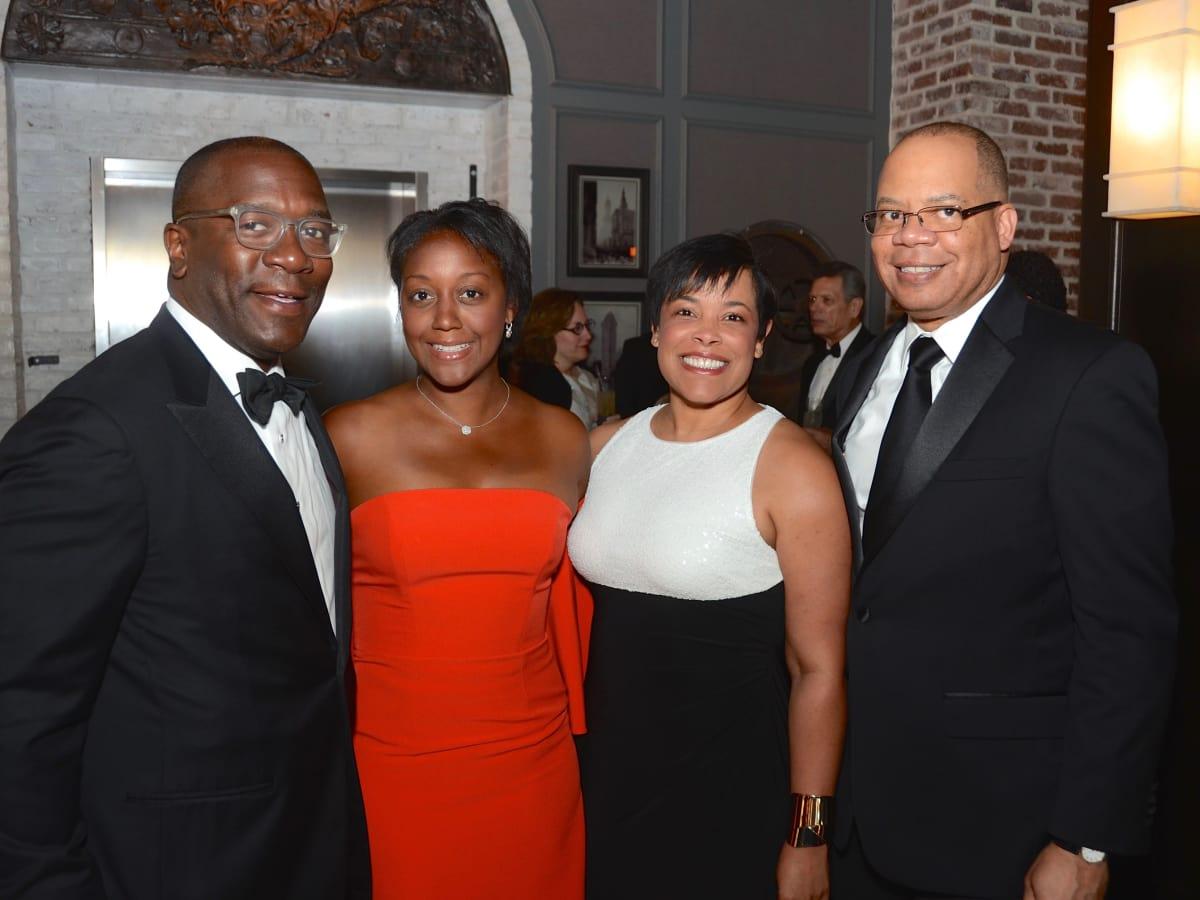 Garfield Johnson, Jakeen Johnson, Keisha Phillips. Felix Phillips at 2017 Da Camera Gala