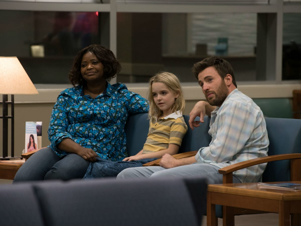 Octavia Spencer, McKenna Grace, and Chris Evans in Gifted