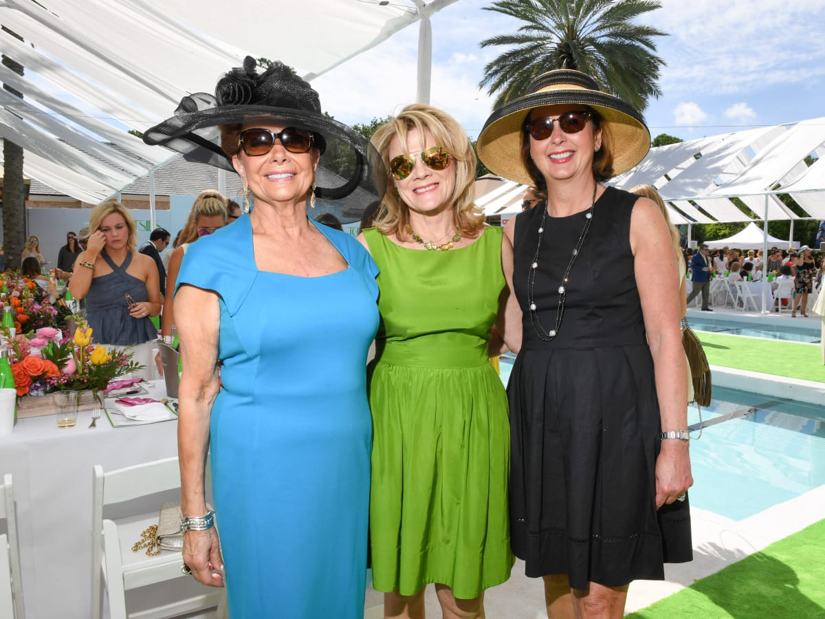 Houston, River Oaks and Tootsies tennis tournament luncheon, April 2017, Philamena Baird, Lisa Simon, Ileana Trevino