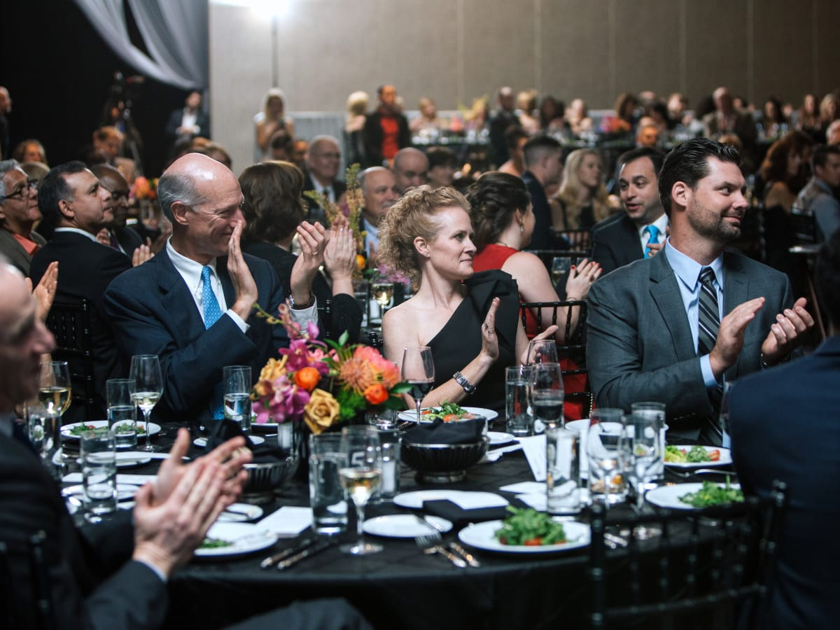 Houston, Marriott Marquis grand opening party, April 2017, Partygoers