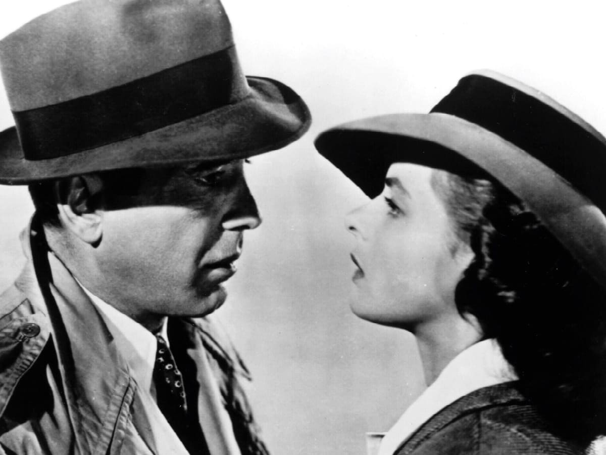 Casablanca with Humphrey Bogart and Ingrid Bergman