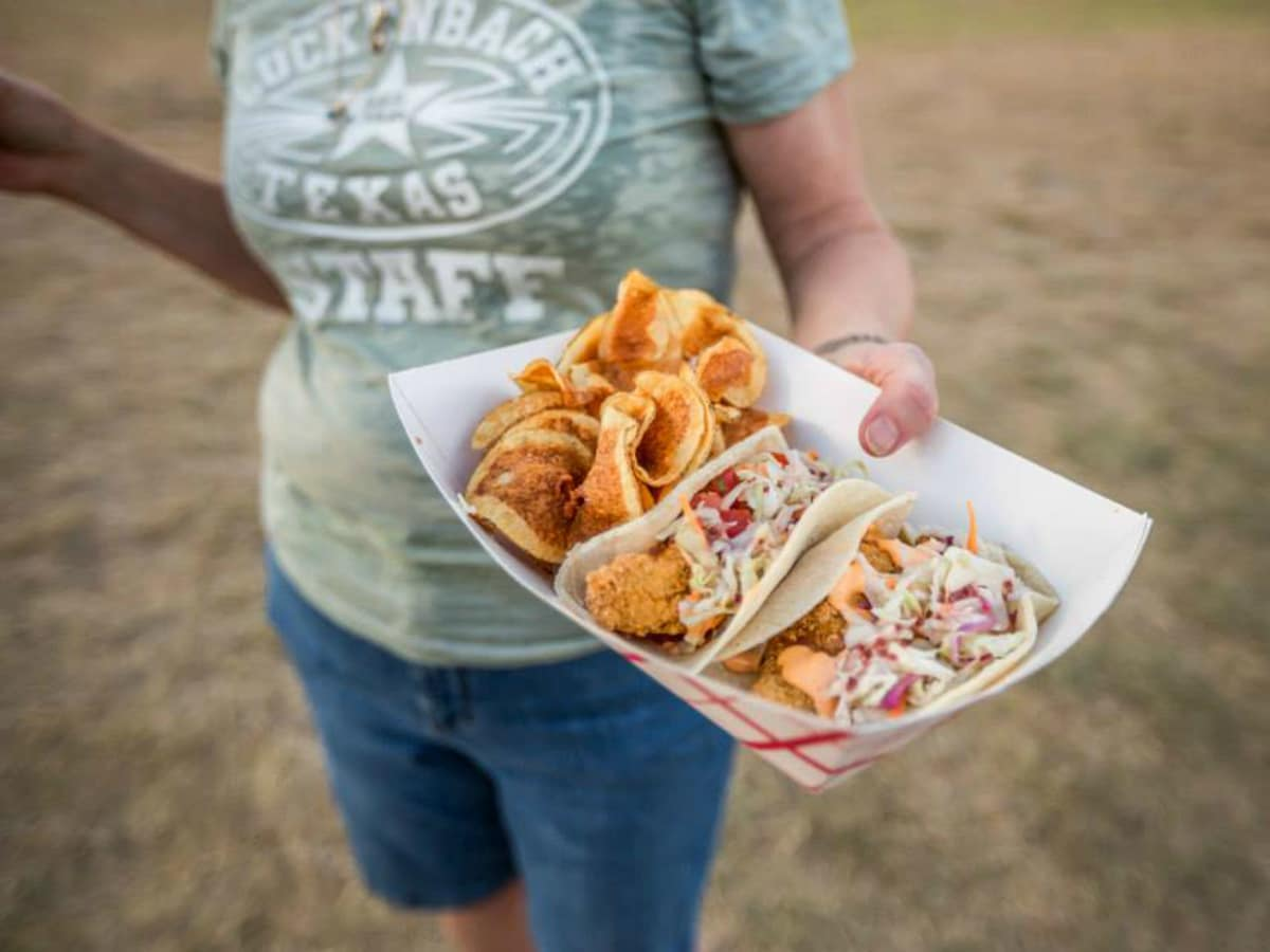 Hill Country Food Truck Festival tacos Luckenbach shirt 2014