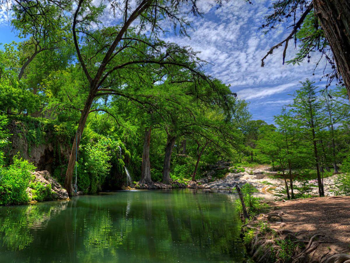 Krause Springs_waterfall and main pool_2013