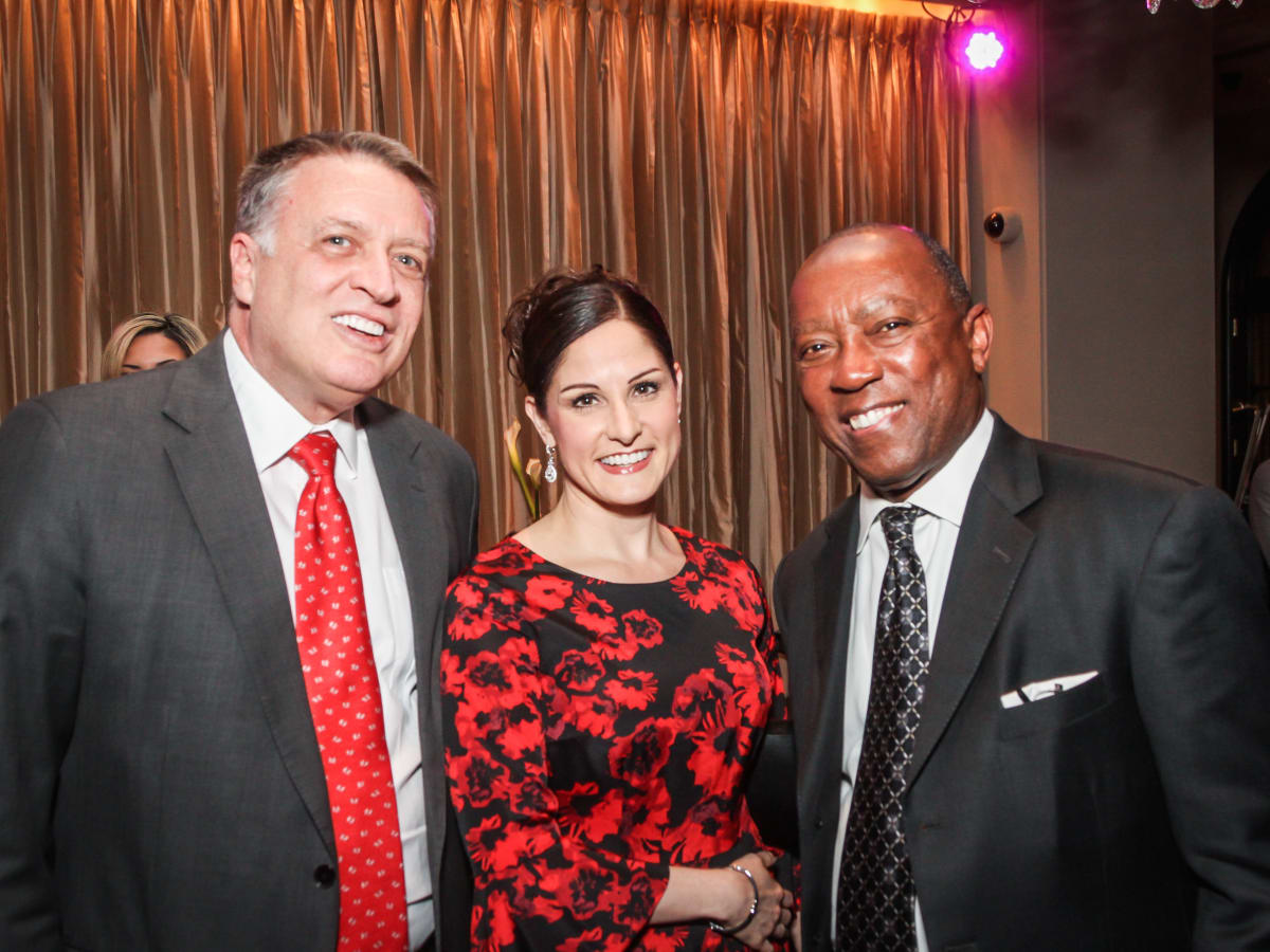 Marc Melcher, Luz Garcini, Sylvester Turner at Houston Arts Alliance performance by Audra McDonald