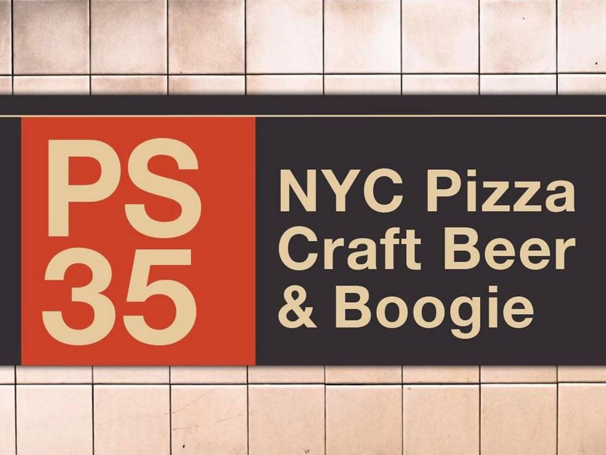 PS 35 pizza restaurant sign