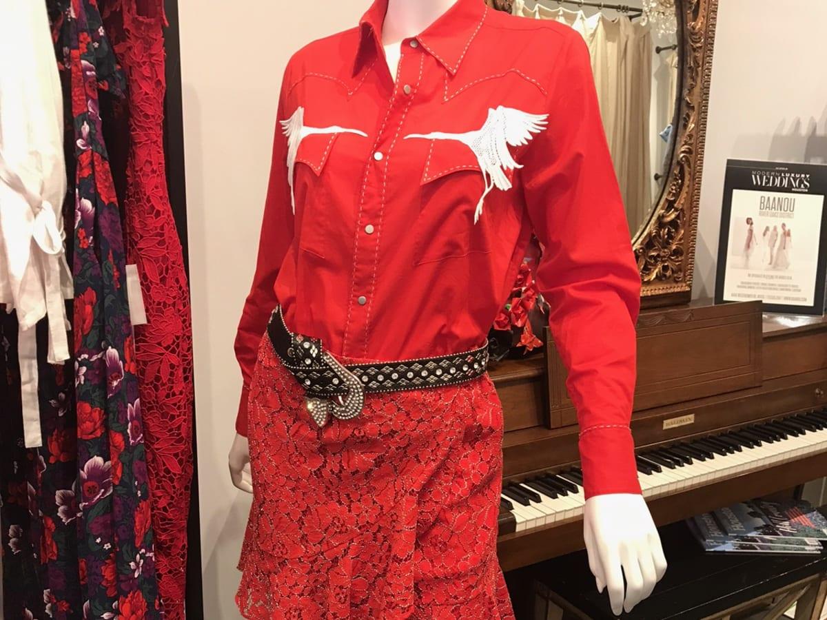 Vivienne Tam Houston collection western shirt