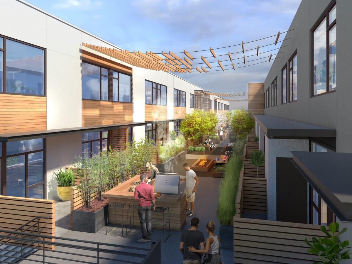 EastLine courtyard